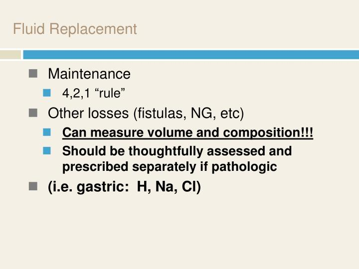 Fluid Replacement