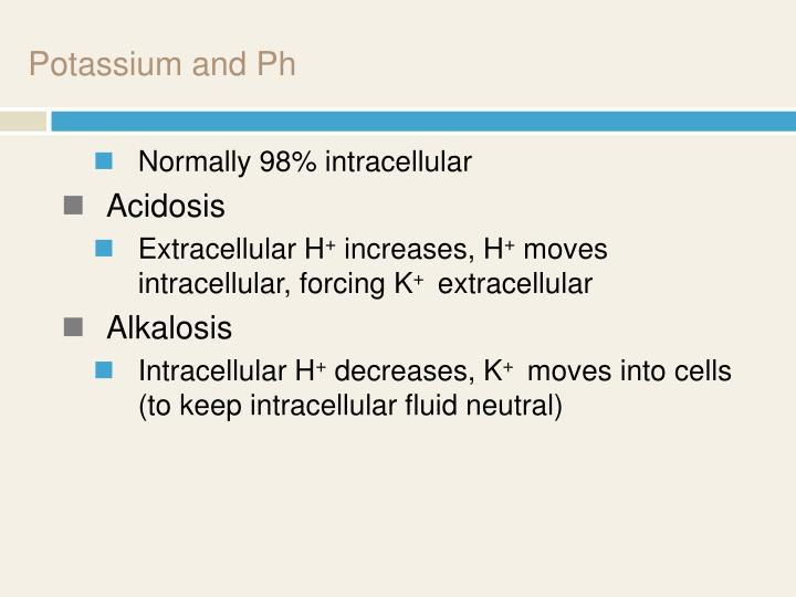Potassium and Ph
