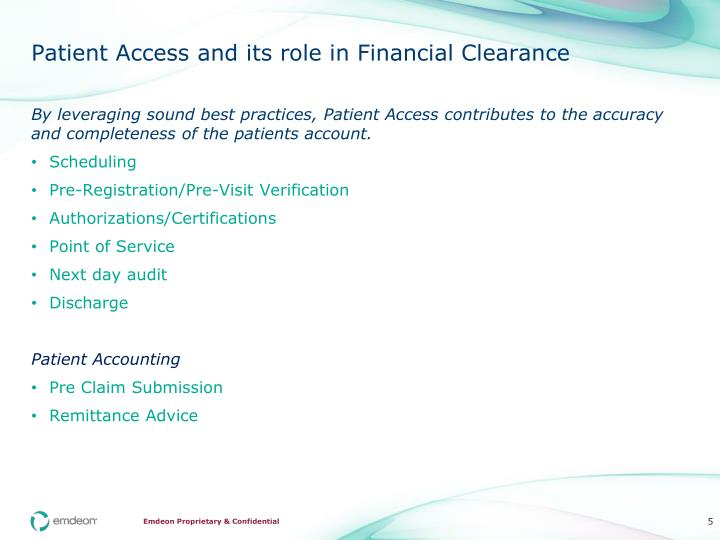 Patient Access and its role in Financial Clearance