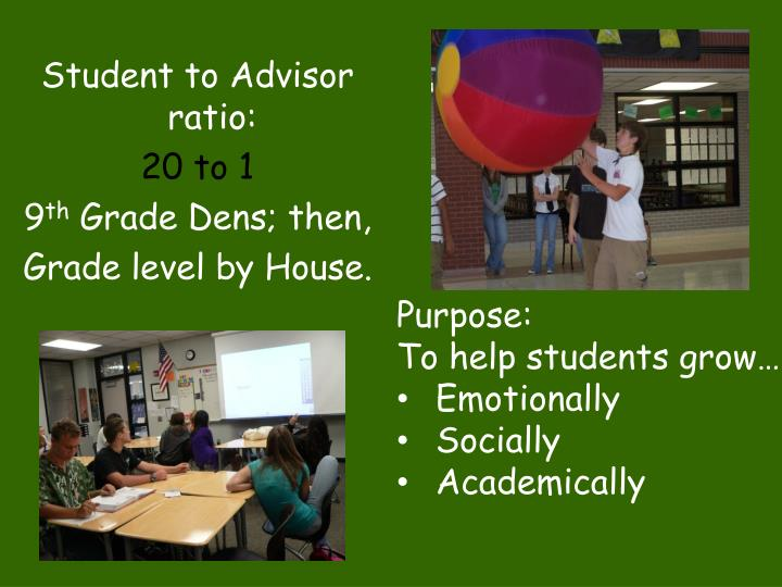 Student to Advisor ratio: