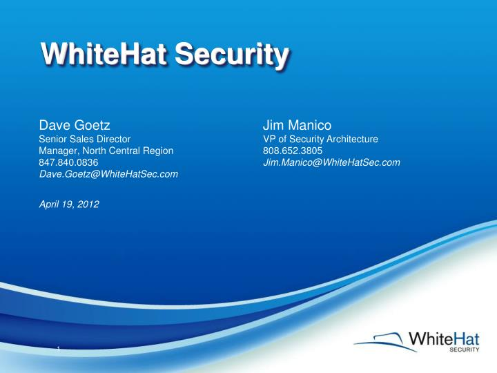 1a920911fcd PPT - WhiteHat Security PowerPoint Presentation - ID 1906856