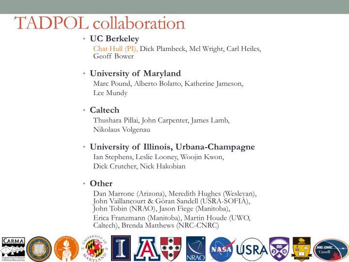 TADPOL collaboration
