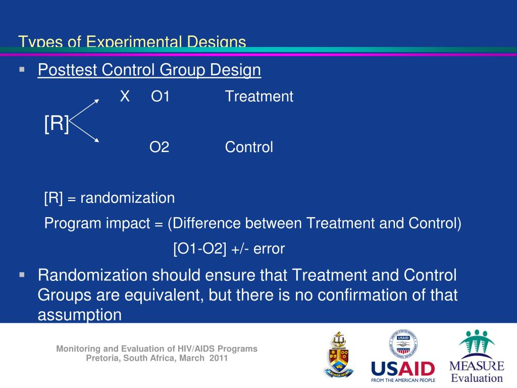 PPT - Research Designs for Program Evaluation M&E for HIV