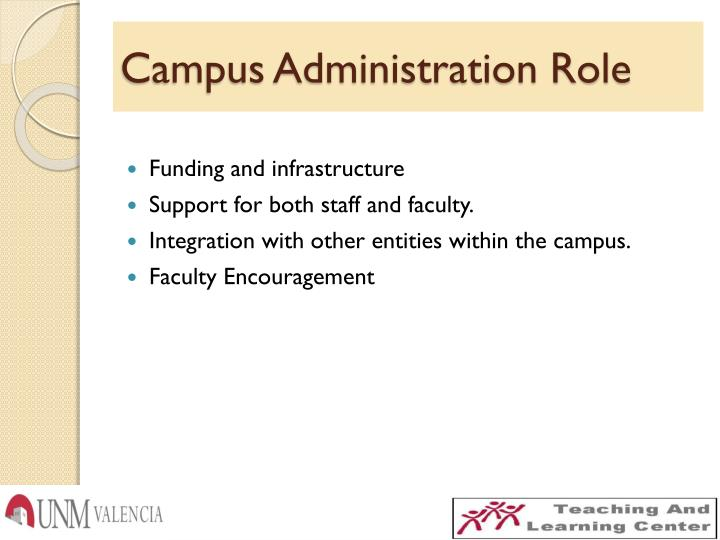 Campus Administration Role