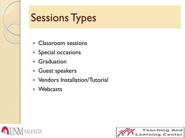 Sessions Types