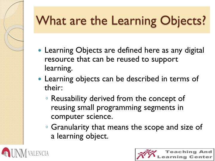 What are the Learning Objects?