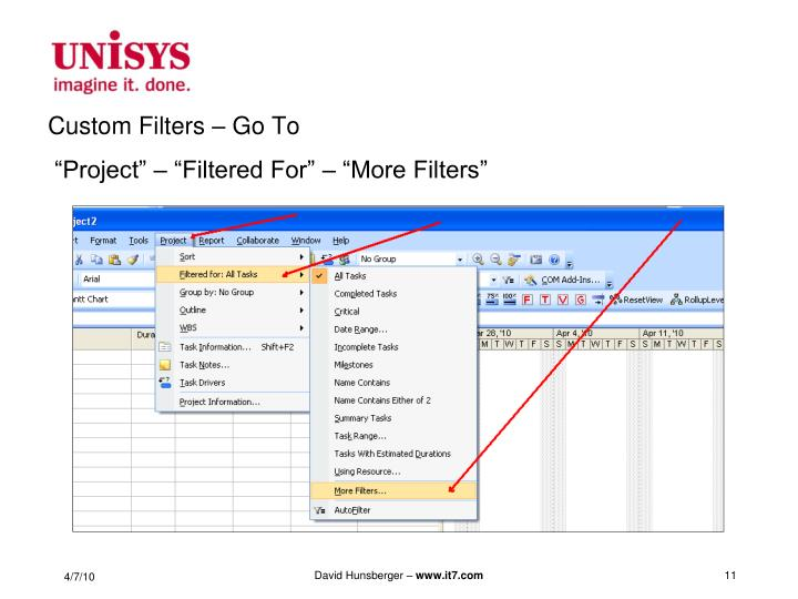Custom Filters – Go To