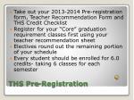 ths pre registration