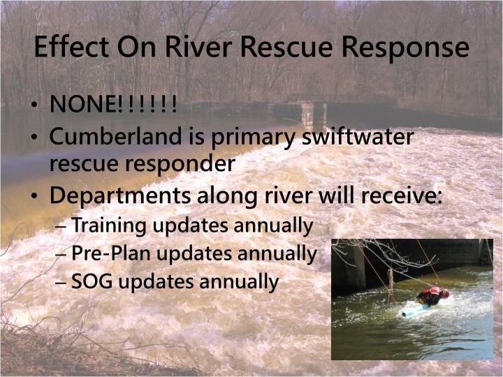 Effect On River Rescue Response