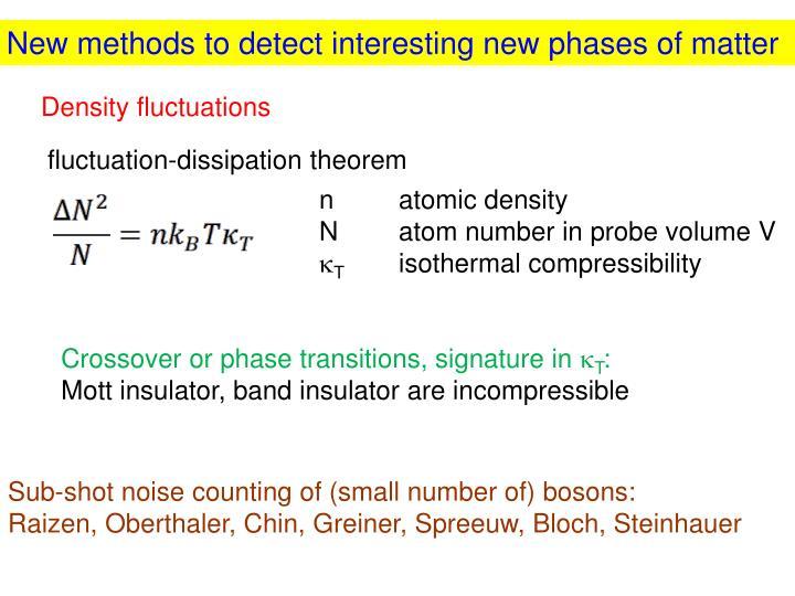 New methods to detect interesting new phases of matter