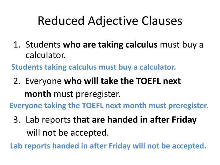 adjective that clause