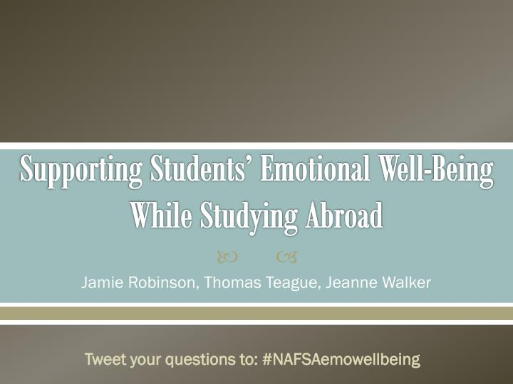 supporting students emotional well being while studying abroad n.