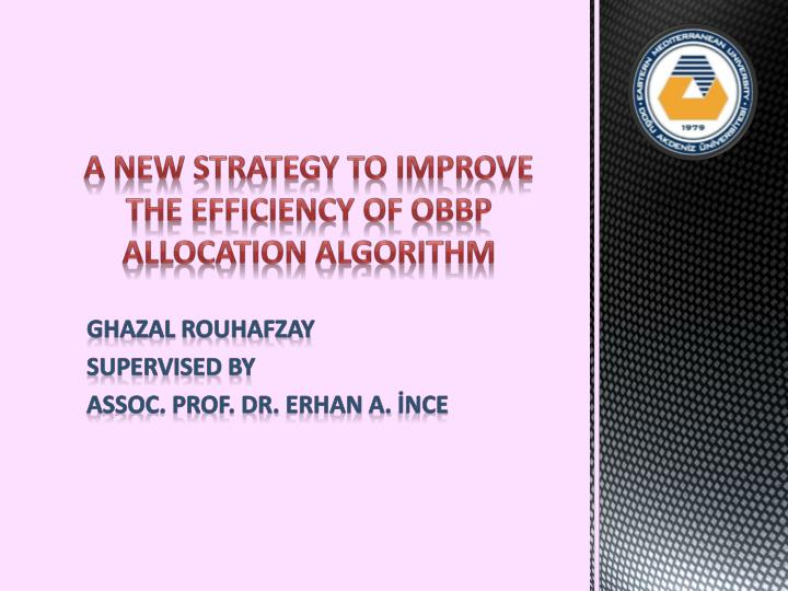 a new strategy to improve the efficiency of obbp allocation algorithm n.