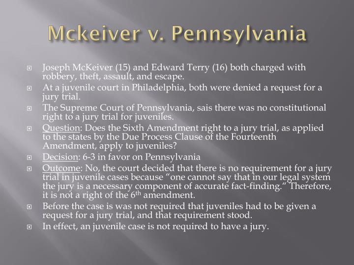 mckeiver v pennsylvania