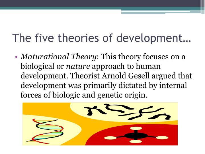 The five theories of development…