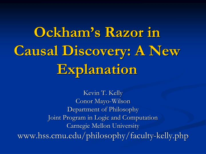 ockham s razor in causal discovery a new explanation n.