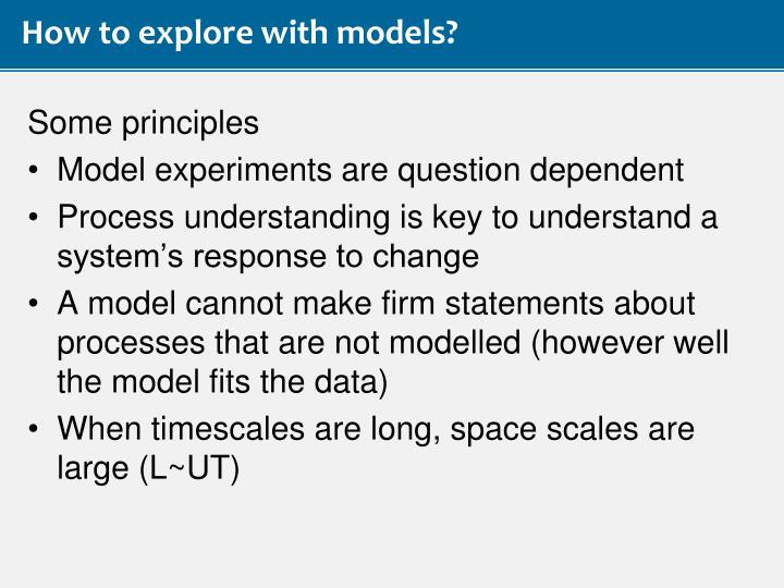 How to explore with models?