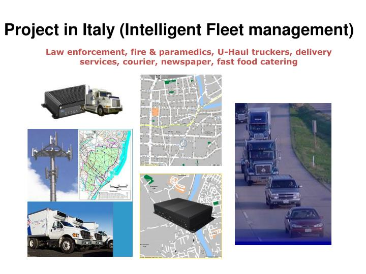project in italy intelligent fleet management n.