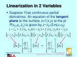 linearization in 2 variables1