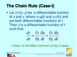 the chain rule case i