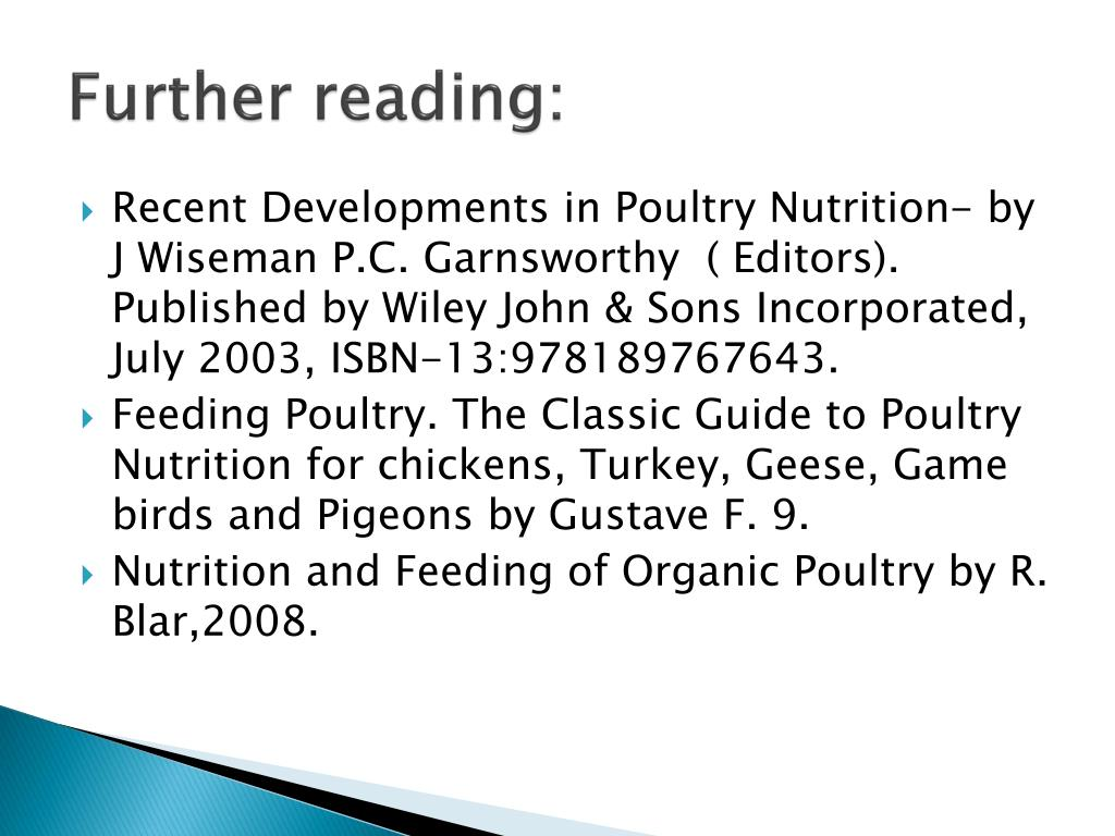 PPT - Basic Principles in Poultry Nutrition –An overview