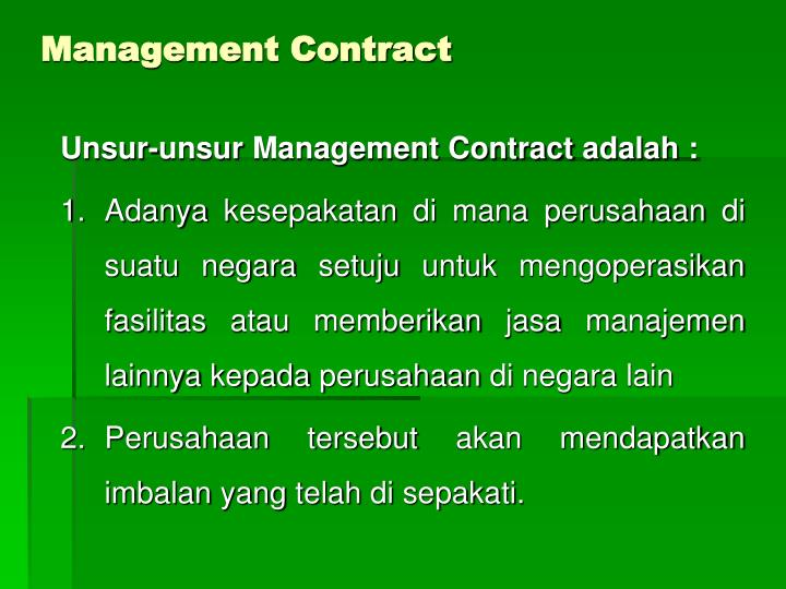 Management contract1