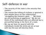 self defense in war