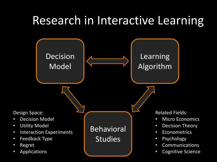Research in Interactive Learning