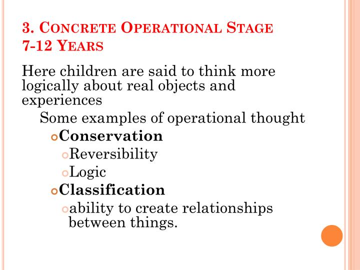 concrete operational thought