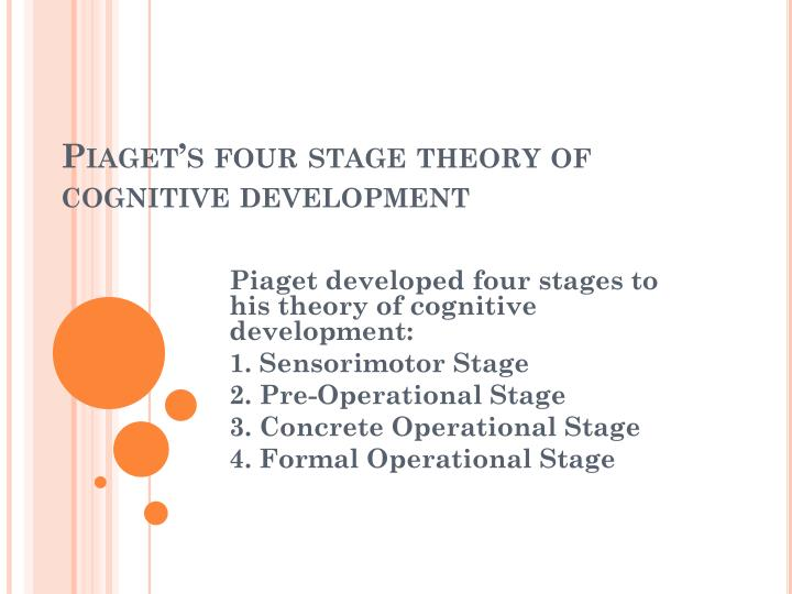 piaget s four stage theory of cognitive development n.