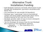 alternative trunk installation funding