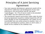 principles of a joint servicing agreement1