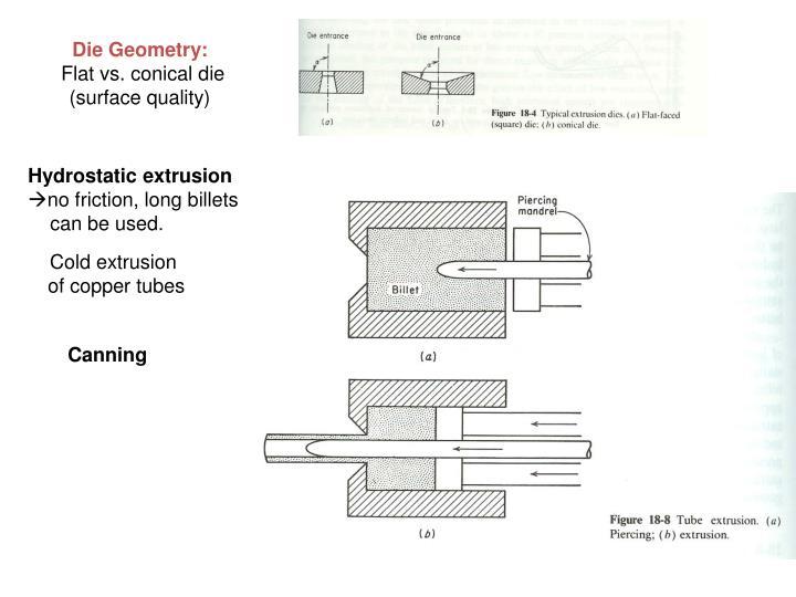Die Geometry: