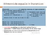 @override equals in duration