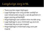 langdurige zorg in nl1