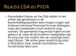 reactie cda en pvda