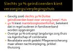 slechts 30 geindiceerden kiest verzorgings verplegingshuis
