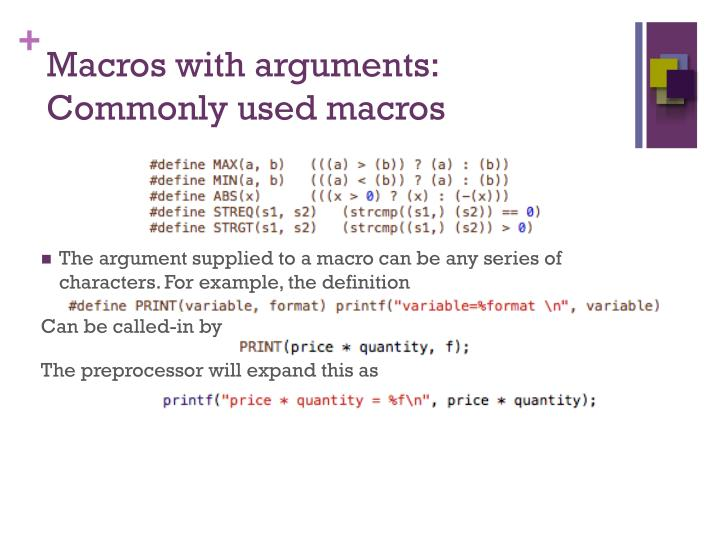 Macros with