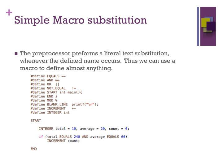 Simple Macro substitution