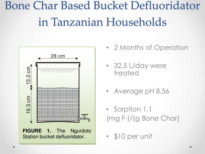 Bone Char Based Bucket