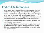end of life intentions