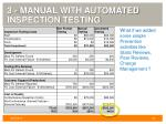 3 manual with automated inspection testing