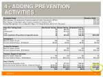 4 adding prevention activities
