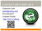 contact info and q a