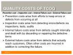 quality costs of tcoq