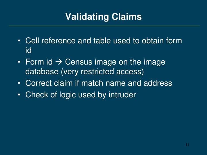 Validating Claims