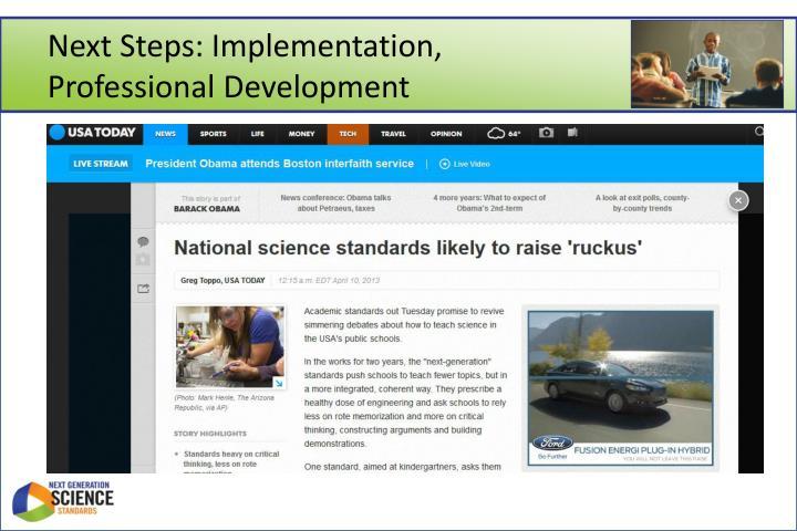 Next Steps: Implementation,
