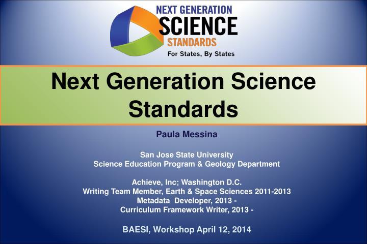 Next Generation Science Standards