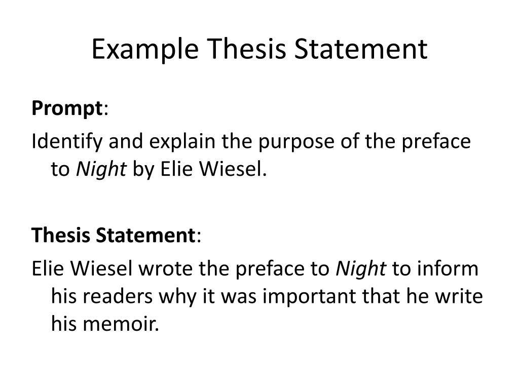 introduction to the book night by elie wiesel