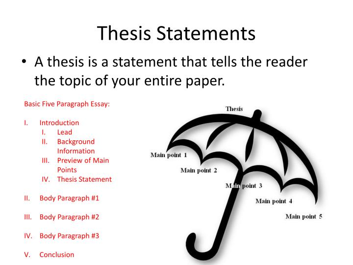 assertion thesis A good thesis has to have a large amount of the constituents including your central statement, purpose, methods, findings, and other subject-related aspects that the committee will be expecting to see.